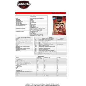 Jack Link`s Beef Jerky Outdoor Nutrition Original 25g